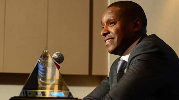 Newly minted Toronto Raptors general manager Masai Ujiri is the NBA's reigning Executive of the Year. (Garrett W. Ellwood/NBAE via Getty Images)