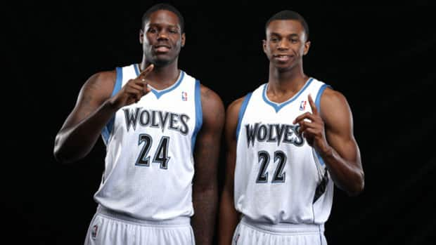 Canadians Andrew Wiggins, right, and Anthony Bennett begin a new chapter as members of the Minnesota Timberwolves. (David Sherman/NBAE via Getty Images)