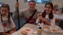 Olympic bronze medallist Mark de Jonge enjoys lunch with future Canadian kayakers at the CSCA in Halifax on Thursday.
