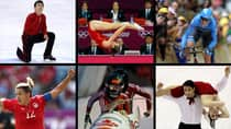 Here is six choices we consider prime  candidates for Canadian athlete of the year in 2012, clockwise from top left: Patrick Chan; Rosie MacLennan; Ryder Hesjedal; Tessa Virtue and Scott Moir; Kaillie Humphries; Christine Sinclair. (Getty Images)