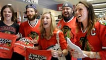 Chicago Blackhawks fans got what they came for after their team defeated the Detroit Red Wings in a thrilling 2-1 OT win of Game 7 Wednesday night. (Nam Y. Huh/Associated Press)