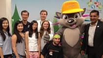 Pachi, a colourful porcupine, was designed by a group of young students. (Monika Platek/CBC)