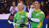 Glenn Howard, left, and Wayne Middaugh are looking to lead their rink to a second straight Grand Slam victory to open the season. (Anil Mungal/Capital One)