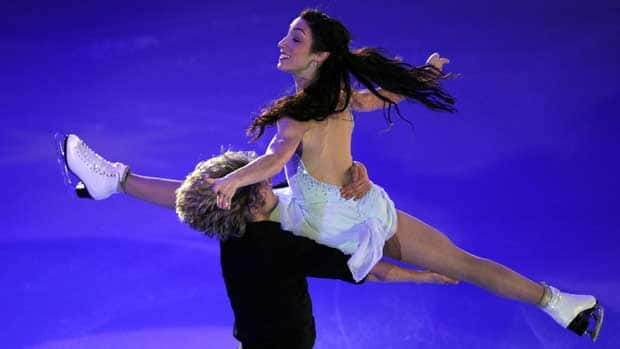 Meryl Davis, top, and Charlie White showed they'll be a force to be reckoned with at the upcoming Grand Prix Final. (Yuri Kadobnov/AFP/Getty Images)