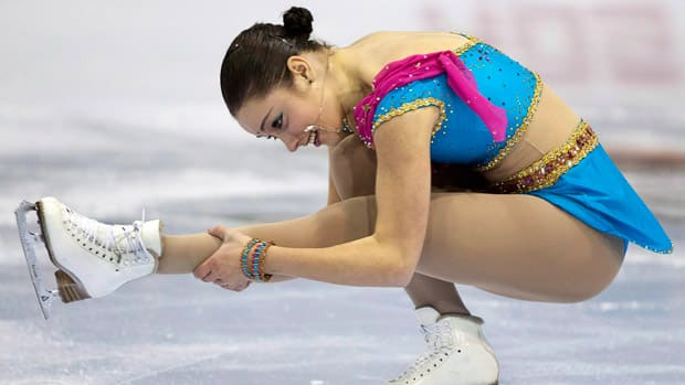 Kaetlyn Osmond from Sherwood Park, Alta., won top marks for her short program at the senior women's competition at the Canadian figure skating championships in Moncton this past January. Osmond now faces stiff competition at the ISU Junior Worlds in Minsk, Belarus. (Andrew Vaughan/Canadian Press)