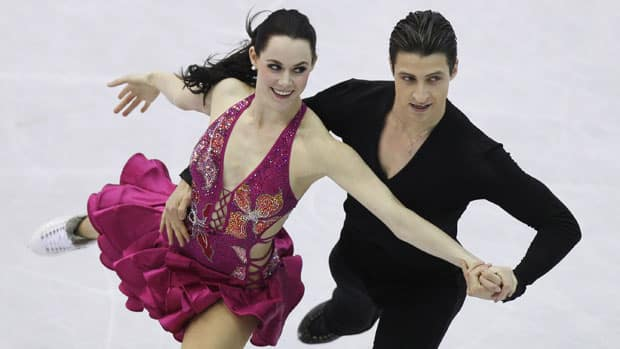 Canada's Tessa Virtue, left, and Scott Moir are skating to