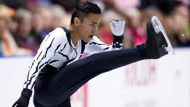 Florent Amodio of France, who kicked it into high gear at Skate Canada, is favoured to win this week's Trophee Eric Bompard. (Paul Chiasson/Canadian Press)