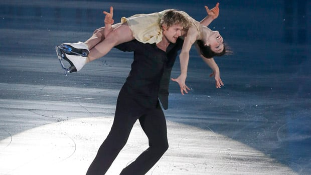 Americans Meryl Davis and Charlie White perform during the gala exhibition at the ISU Grand Prix of Figure Skating in Sendai, Japan on Sunday. (Shizuo Kambayashi/Associated Press)