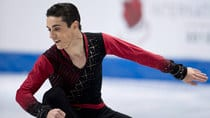 Spain's Javier Fernandez, seen during his winning weekend at Skate Canada in October, will have to fend off a pair of home country favourites at Japan's NHK Trophy. (Paul Chiasson/Canadian Press)