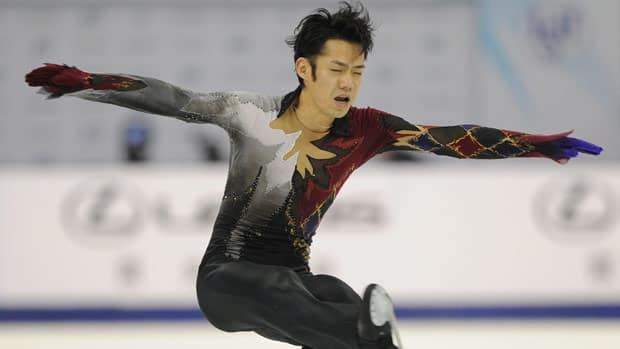 Daisuke Takahashi couldn't quite connect to his long program, paving the way for countryman Tatsuki Michida to prevail in Shanghai. (Peter Parks/AFP/Getty Images)