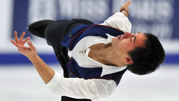 Reigning two-time world champion Patrick Chan of Toronto is Pj Kwong's pick to prevail in the Grand Prix Final at Sochi, Russia. (Yuri Kadobnov/Getty Images)