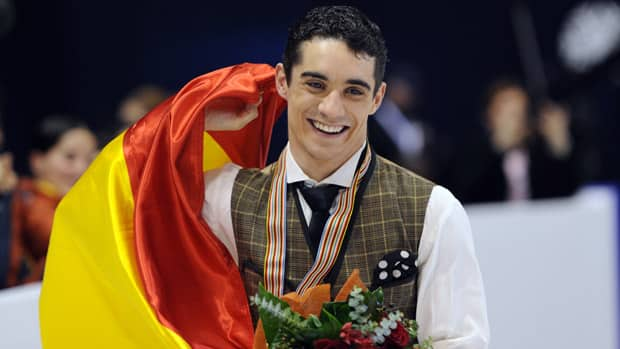Javier Fernandez became the first Spaniard to capture a European figure skating title when he won the men's event. (Attila Kisbenedek/AFP/Getty Images)