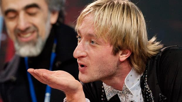 Russian great Evgeni Plushenko continues to battle injuries and younger foes. (Leon Neal/AFP/Getty Images)