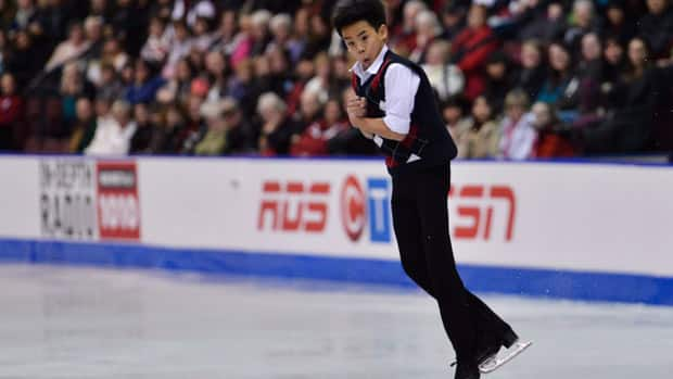 Canada's Nam Nguyen will be a skater to watch at the upcoming ISU world junior figure skating championships in Milan, Italy. (Nathan Denette/Canadian Press)