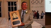 Kent State golf coach Herb Page of Markham, Ont., at his induction into the Golf Association of Ontario Hall of Fame on May 9. (Golf Association of Ontario Photo)