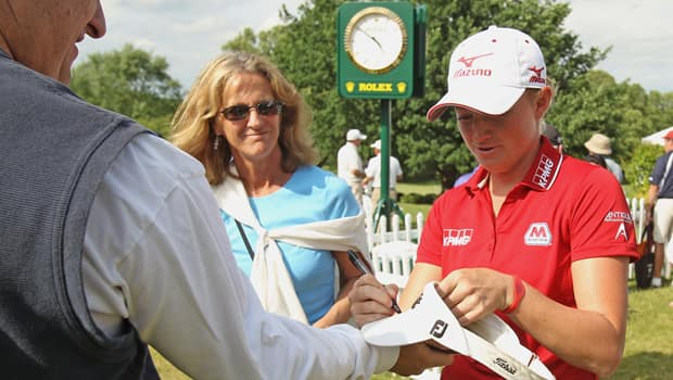 Stacy Lewis, who played golf at the University of Arkansas, will garner plenty of attention from gallery fans in Rogers, Ark. (Scott Halleran/Getty Images)