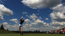 Michelle Wie, who was paired with Hamilton's Alena Sharp in the final round, hits from the 14th tee box in the inaugural Manulife Financial LPGA Classic at Grey Silo Golf Course in Waterloo, Ont. (Chris Trotman/Getty Images)