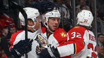 Fantasy managers have many reasons to be thankful for the Florida Panthers and their surprising stars this season, including Brian Campbell, left, Stephen Weiss, centre, and Kris Versteeg. (Bruce Bennett/Getty Images)