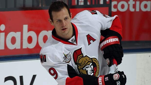 Jason Spezza's career high in points was 92 - 34 goals and 58 assists - in the 2007-08 season. (Claus Andersen/Getty Images)