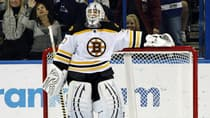 Bruins goalie Tim Thomas skipped his team's White House visit on Monday, creating quite a stir. (Chris O'Meara/Associated Press)