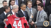 By the time the Chicago Blackhawks ended up at the White House to commemorate their 2010 championship, they were teetering on the edge of being eliminated from the subsequent postseason. (Pablo Martinez Monsivais/Associated Press)