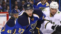 Alex Pietrangelo is emerging as a force on the blue-line for St. Louis. (Dilip Vishwanat/Getty Images)