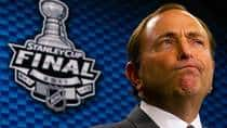 NHL Commissioner Gary Bettman, shown here at a press conference before last year's Stanley Cup Finals, is not a fan of labour dispute rumours. Friedman remembers clearly how angry Bettman gets when labour talks begin to overshadow actual games. (Darryl Dyck/Canadian Press)