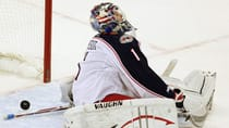 Don't fret, Columbus Blue Jackets goaltender Steve Mason. That goal might not have counted, depending on what time the NHL's Toronto War Room had on their clocks. (File/Canadian Press)