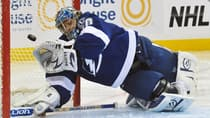 Dwayne Roloson's 3.67 goals-against average and .883 save percentage for Tampa Bay are the worst of his 14 NHL seasons. (Al Messerschmidt/Getty Images)