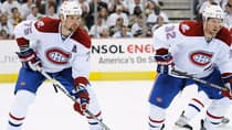 With the NHL trade deadline nearing, will Hal Gill, left, and Travis Moen still be members of the Montreal Canadiens in two weeks? If not, which players will step up and fill the voids? (Jamie Sabau/Getty Images)