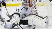Promising young netminder Jonathan Bernier has been stuck in the second spot behind Jonathan Quick in Los Angeles. (Gerry Broome/Associated Press)