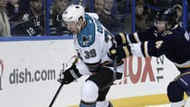 Logan Couture of the San Jose Sharks is producing points at an elite level but comes with a lower player value than most of the league's top forwards. (Tom Gannam/Associated Press)