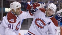 Scott Gomez, left, and Andrei Markov, seen in happier times with the Montreal Canadiens. (Frank Gunn/Canadian Press)