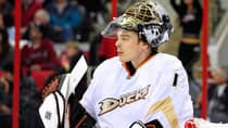 On a team chasing a playoff berth in the Western Conference, Anaheim Ducks goaltender Jonas Hiller's heavy workload should pay off for fantasy managers this week. (Grant Halverson/Getty Images)
