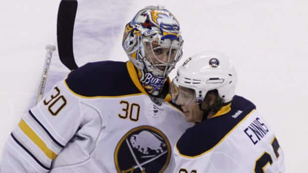 Goalie Ryan Miller and forward Tyler Ennis have helped lead the Buffalo Sabres at opposite ends of the ice. (Fred Chartrand/Canadian Press)