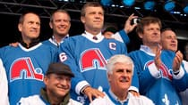 Former Nordique players, including Hall of Famer Peter Stastny (top centre), are sure to make several trip back to Quebec City should the area ever be granted an NHL franchise again. (Jacques Boissinot/Canadian Press)