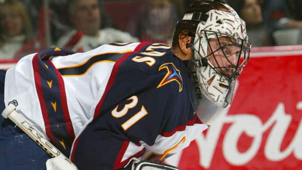 Goaltender Steve Shields last played in the NHL with the Atlanta Thrashers in 2005-06, but now finds himself coaching the netminders of tomorrow at Michigan Tech. (Charles Laberge/Getty Images)