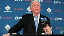 Leafs GM Brian Burke does not like when reporters bring up how the Pittsburgh Penguins built their team through the draft. (Chris Young/Canadian Press)