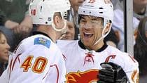 Flames winger Jarome Iginla will meet with general manager Jay Feaster this week for his end-of-season meeting at which time the latter no doubt will lay out the team's short- and long-term plans for the veteran NHLer to ponder. (Hannah Foslien/Getty Images)