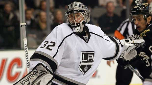 Los Angeles goalie Jonathan Quick led the NHL with 10 shutouts this season. (Ronald Martinez/Getty Images)
