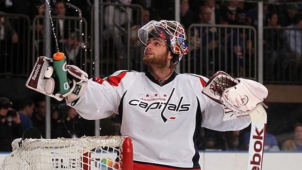 Braden Holtby is a new dad, and a relatively new hero for the Washington Capitals. (Bruce Bennett/Getty Images)
