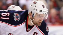 Columbus Blue Jackets captain Rick Nash will be the centre of the trade rumour mill this week ahead of the NHL draft. (Christian Petersen/Getty Images)