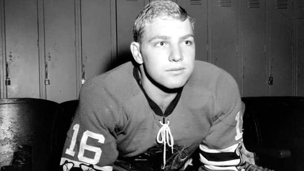 This is the 18-year-old Bobby Hull as he began his career with the Chicago Blackhawks. This picture was taken on on Oct. 24, 1957. Hull was not allowed to play in the Summit Series because he had signed with the Winnipeg Jets of the WHL.  (AP Photo)