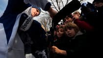 The NHL could be damaging its relationship with young fans like these seeking an autograph from the Leafs' Dion Phaneuf at a outdoor practice. (Darren Calabrese/Canadian Press)