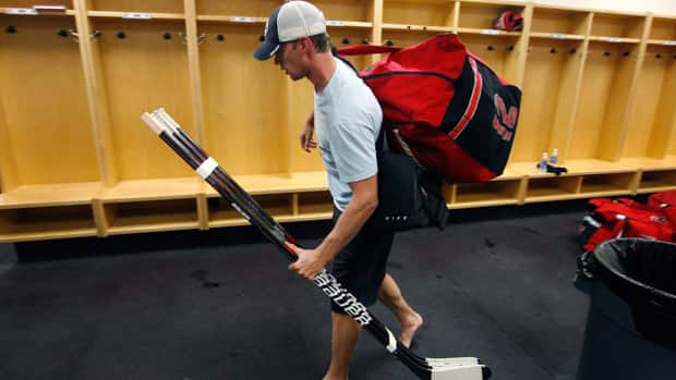 Carolina Hurricanes centre Eric Staal won't be able to return to the team's facility once the NHL imposes its lockout on Saturday at midnight ET. (Ethan Hyman/Associated Press)