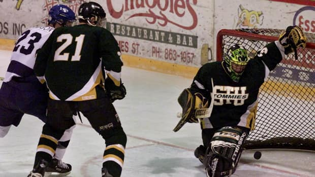 There's plenty of non-NHL hockey being played in Canada, including university level games featuring teams like the St. Francis Xavier X-Men and St. Thomas Tommies. (File/Canadian Press)