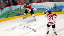 In this photo, Sidney Crosby and Scott Niedermayer celebrate the winning goal in the gold medal game at the Vancouver Olympics. After 19 days of a lockout that's all about business, one fan is starting to question the players' motivations. 