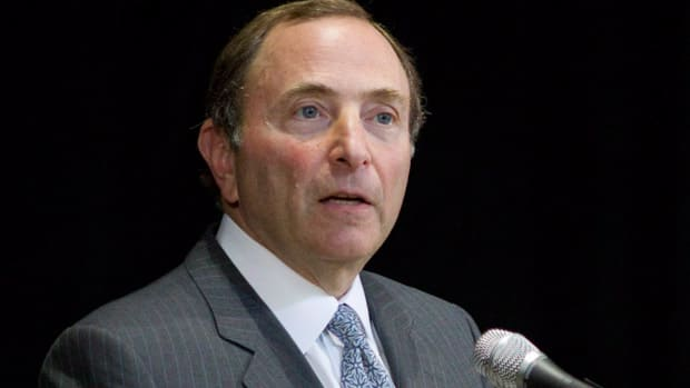 NHL commissioner Gary Bettman announced a 50-50 revenue split to the players on Tuesday. (Chris Young)