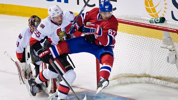 The NHL lockout forced the cancellation of the league's opening night, including a clash between the Montreal Canadiens and Ottawa Senators. (Graham Hughes/Canadian Press)