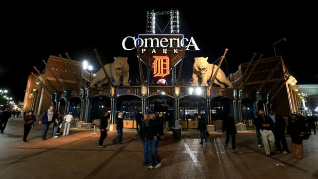 Downtown Detroit's Comerica Park was slated to host a series of Winter Classic-related events. (Doug Pensinger/Getty Images)